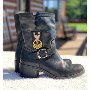 Rebels black shimmer boot UK size 38; US 7.5-8